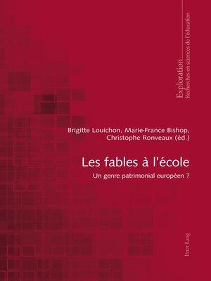 cover image of Les fables à lécole