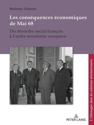 cover image of Les conséquences économiques de Mai 68