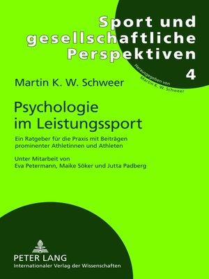 cover image of Psychologie im Leistungssport