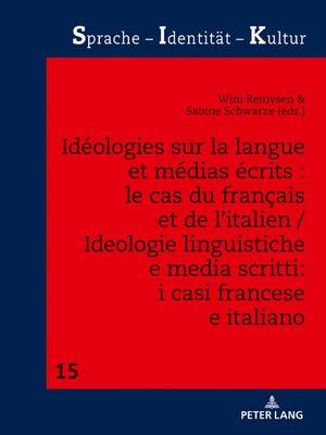 cover image of Idéologies sur la langue et médias écrits
