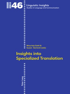 cover image of Insights into Specialized Translation
