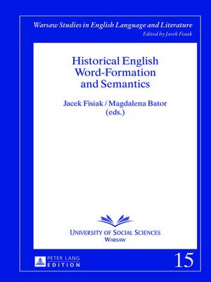 cover image of Historical English Word-Formation and Semantics