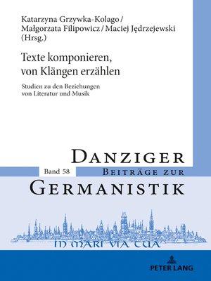 cover image of Texte komponieren, von Klaengen erzaehlen