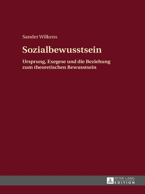 cover image of Sozialbewusstsein