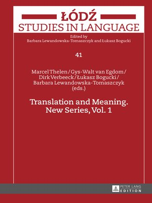 cover image of Translation and Meaning