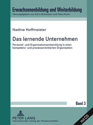 cover image of Das lernende Unternehmen
