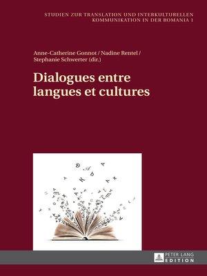 cover image of Dialogues entre langues et cultures