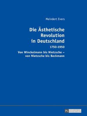 cover image of Die Aesthetische Revolution in Deutschland