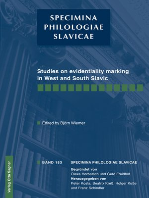 cover image of Studies on evidentiality marking in West and South Slavic