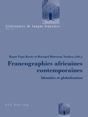 cover image of Francographies africaines contemporaines
