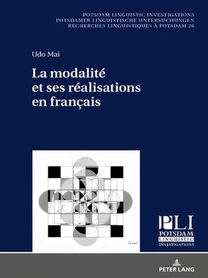 cover image of La modalité et ses réalisations en français