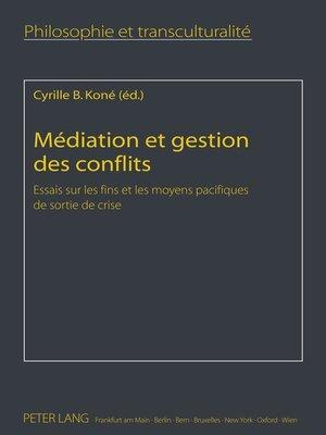 cover image of Médiation et gestion des conflits