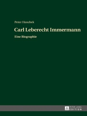 cover image of Carl Leberecht Immermann