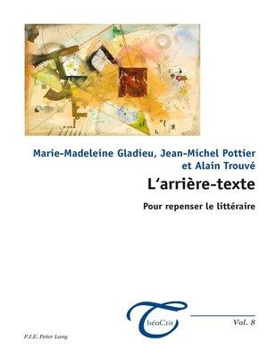 cover image of Larrière-texte