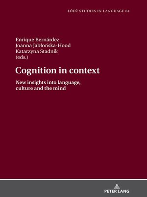 cover image of Cognition in context