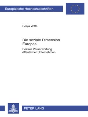 cover image of Die soziale Dimension Europas