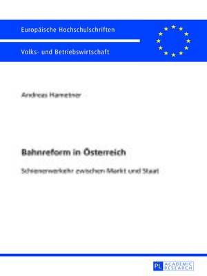 cover image of Bahnreform in Oesterreich