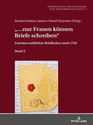 cover image of «...nur Frauen koennen Briefe schreiben»
