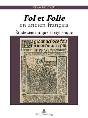 cover image of « Fol » et « Folie » en ancien français