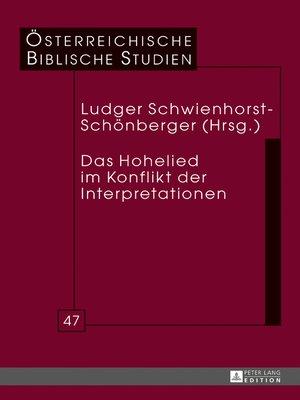 cover image of Das Hohelied im Konflikt der Interpretationen