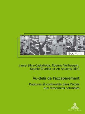 cover image of Au-delà de laccaparement