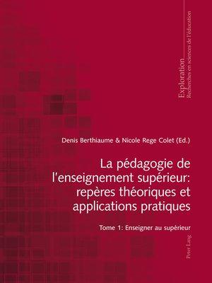 cover image of La pédagogie de lenseignement supérieur