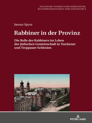 cover image of Rabbiner in der Provinz