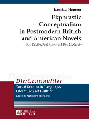 cover image of Ekphrastic Conceptualism in Postmodern British and American Novels