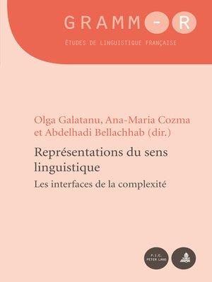 cover image of Représentations du sens linguistique