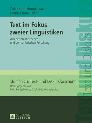 cover image of Text im Fokus zweier Linguistiken