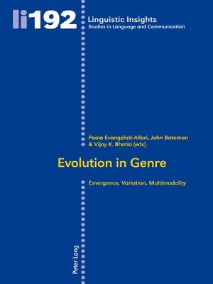 cover image of Evolution in Genre