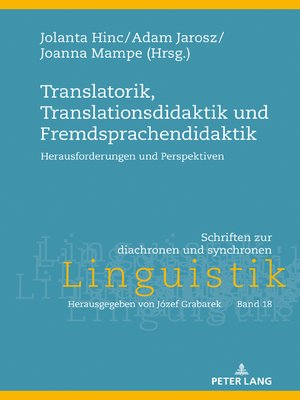 cover image of Translatorik, Translationsdidaktik und Fremdsprachendidaktik