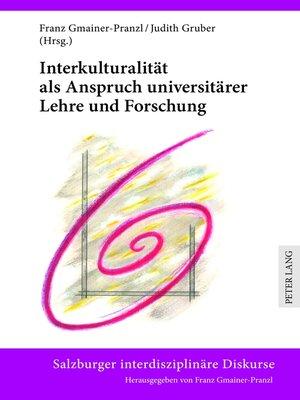 cover image of Interkulturalitaet als Anspruch universitaerer Lehre und Forschung
