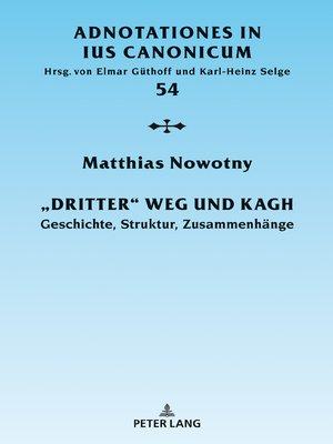 cover image of «Dritter» Weg und KAGH