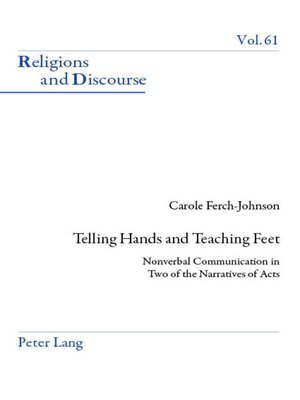 cover image of Telling Hands and Teaching Feet