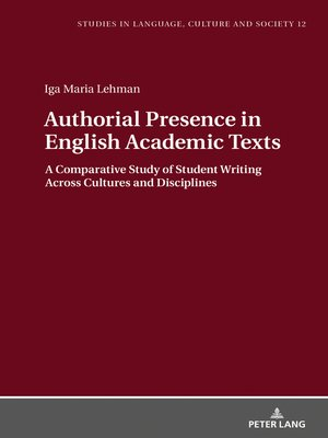 cover image of Authorial Presence in English Academic Texts