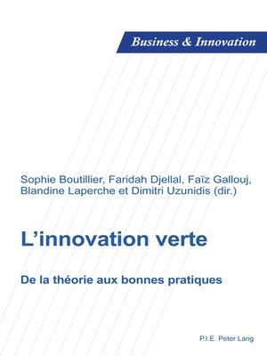 cover image of Linnovation verte