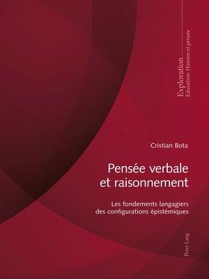 cover image of Pensée verbale et raisonnement