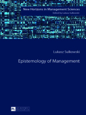 cover image of Epistemology of Management