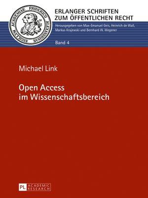 cover image of Open Access im Wissenschaftsbereich
