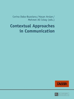 cover image of Contextual Approaches in Communication