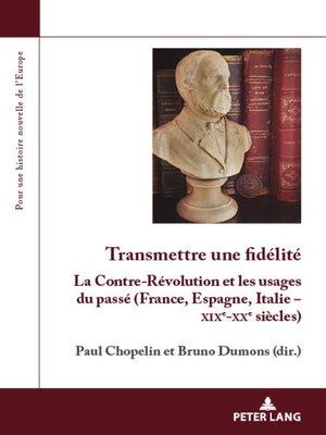 cover image of Transmettre une fidélité