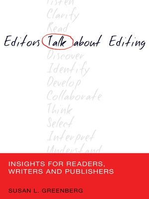 cover image of Editors Talk about Editing