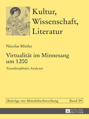 cover image of Virtualitaet im Minnesang um 1200