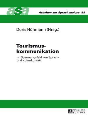 cover image of Tourismuskommunikation