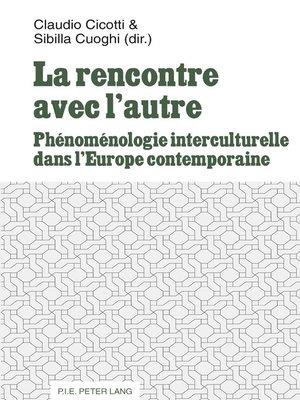 cover image of La rencontre avec lautre
