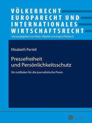cover image of Pressefreiheit und Persoenlichkeitsschutz
