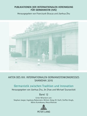 cover image of Akten des XIII. Internationalen Germanistenkongresses Shanghai 2015