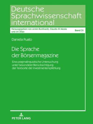 cover image of Die Sprache der Börsenmagazine