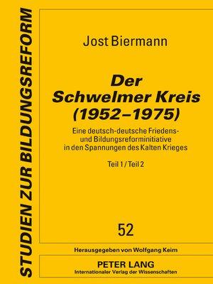 cover image of Der Schwelmer Kreis (19521975)